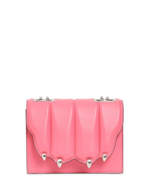 Marco De Vincenzo | Pink Small Griffe Leather Shoulder Bag | Lyst