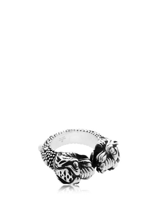 Gucci - Metallic Vintage Tiger Ring - Lyst