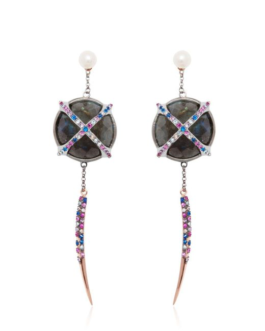 Katie Rowland | Black Mercier Statement Earrings | Lyst