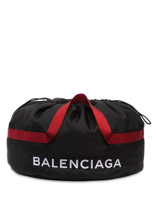 Balenciaga SMALL WHEEL NYLON SPORT TOTE BAG ZEbYFtQvH