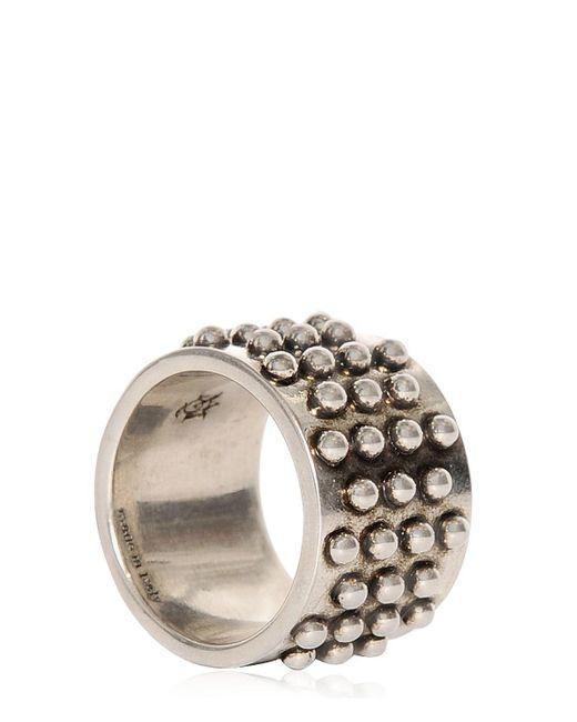 Alexander McQueen | Metallic Studded Metal Ring for Men | Lyst