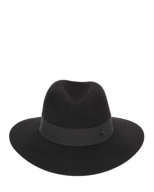 ... Maison Michel - Black Henrietta Rabbit Fur Felt Hat for Men - Lyst ... ebecf8052452