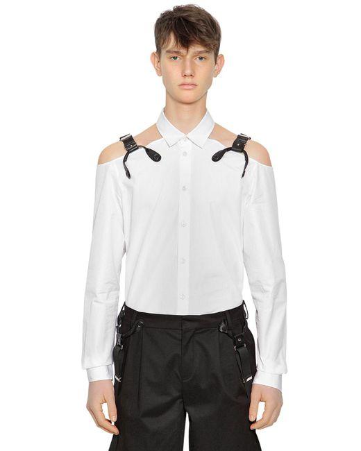 Moschino - White Baumwollhemd Mit Trägerriemen for Men - Lyst