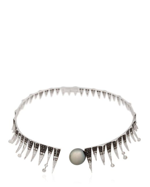 Colette - Black Galaxia Shooting Star Necklace - Lyst