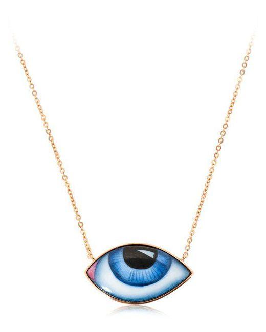 Lito - Metallic Escapulario Enameled Eyes Necklace for Men - Lyst