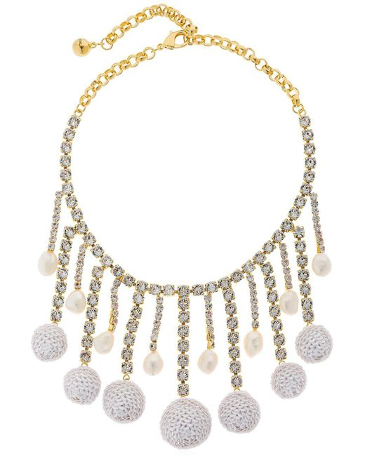 Shourouk - Metallic Sequins Necklace - Lyst