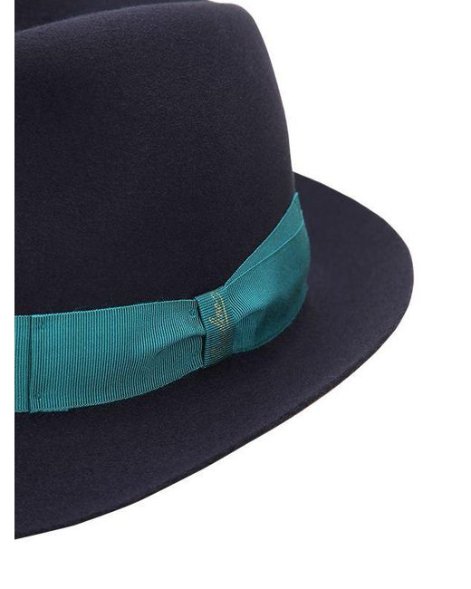 55c43a6acb3 ... Borsalino - Blue Trilby Medium Brim Fur Felt Hat for Men - Lyst ...
