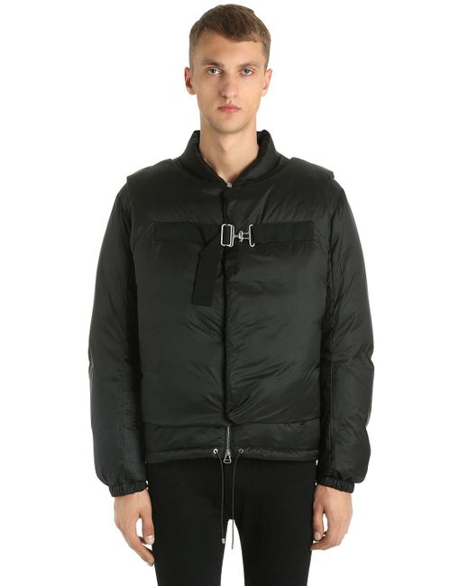 OAMC - Black Down Jacket W/ Detachable Front Overlays for Men - Lyst