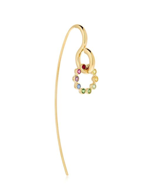 Charlotte Chesnais | Metallic Sapphire, Topaz & Gold Swing Earring | Lyst