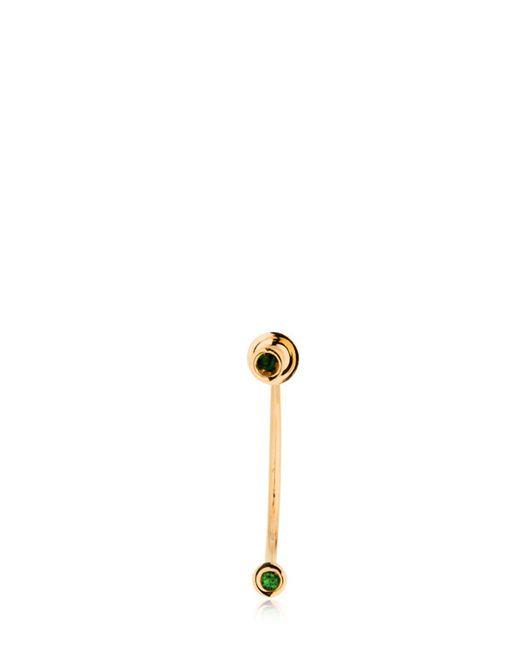Delfina Delettrez - Metallic Micro Piercing Mono Earring - Lyst