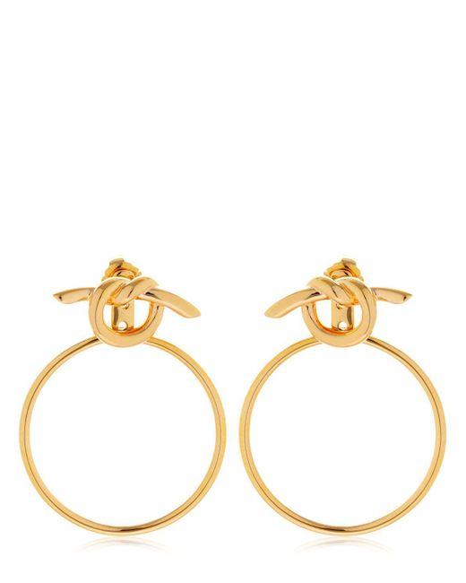 Eshvi - Metallic Venus Hoop Ear Jacket Earrings - Lyst