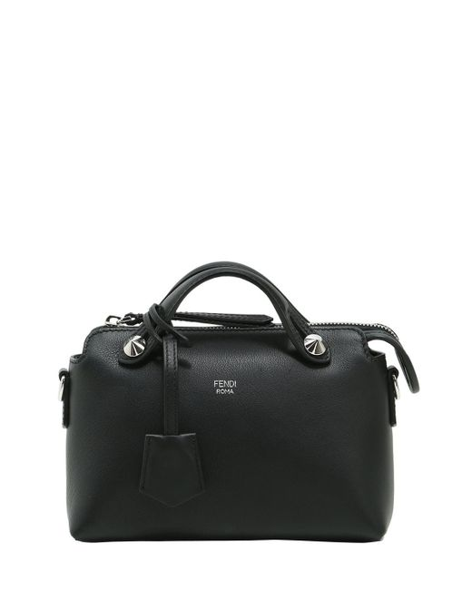Fendi | Black Mini By The Way Leather Top Handle Bag | Lyst