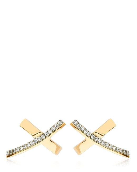 Antonini | Metallic Siracusa Diamond Earrings | Lyst