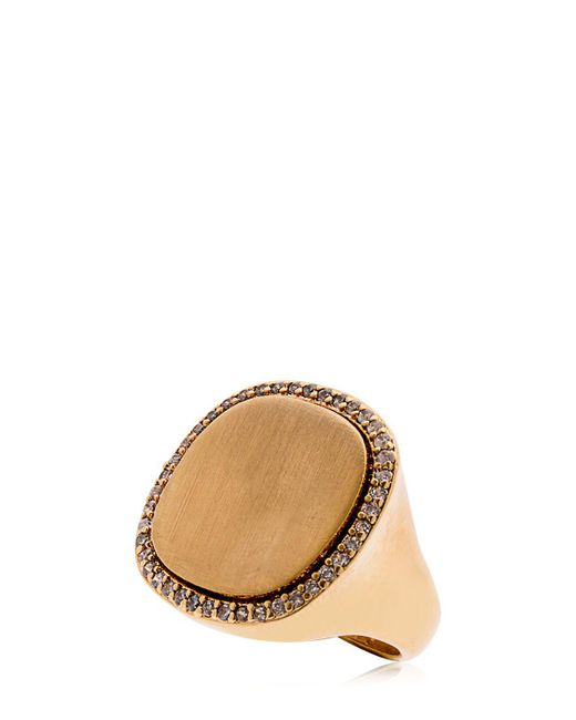 FEDERICA TOSI - Metallic Satin Ring - Lyst