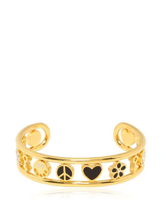 Marc By Marc Jacobs | Metallic Enameled Happy House Cuff Bracelet | Lyst