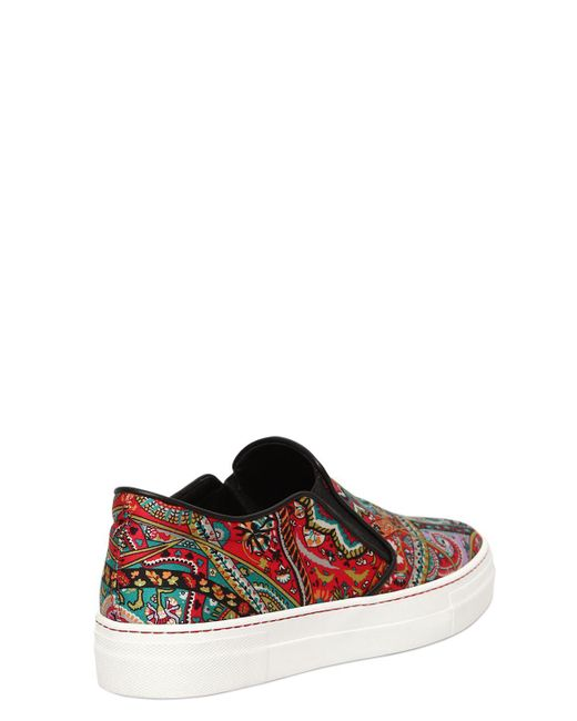 Cheap Best Prices Brand New Unisex Online Etro 20MM PAISLEY SATIN SLIP-ON SNEAKERS fC6SpjAxu