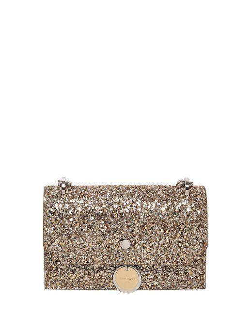 Jimmy Choo | Metallic 'finley' Shadow Coarse Glitter Crossbody Bag | Lyst