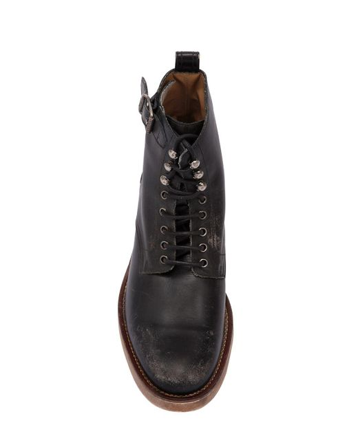 Unique Lyst - Belstaff Chancery Vintage Effect Leather Boots in Black for Men CS38