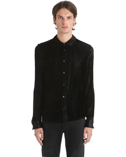 Garçons Infideles - Black Hemd Aus Velour Und Seidenkord for Men - Lyst