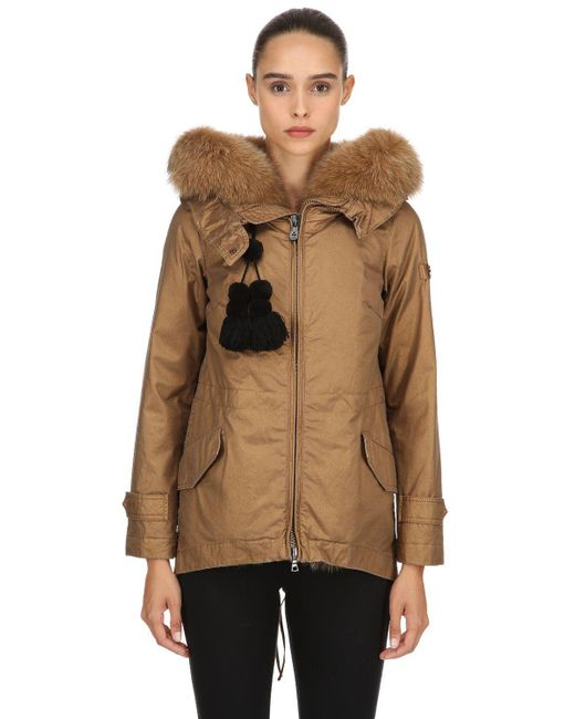 Peuterey - Brown Tse Parka Down Jacket W/ Fur - Lyst