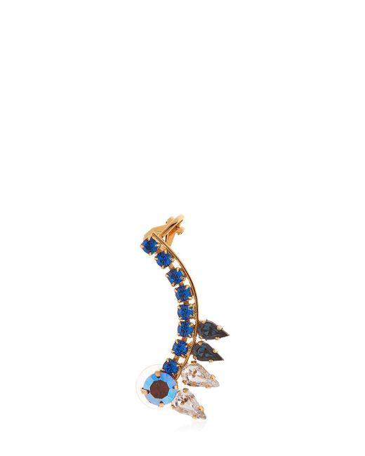 Halo - Blue Colored Earcuff W/ Swarovski Crystals - Lyst