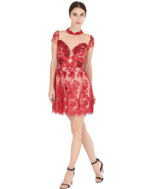 Fabiana Milazzo | Floral Embroidered Tulle Dress | Lyst