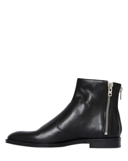 GivenchyLEATHER ANKLE BOOTS W/ ZIP DETAILS PRzCiSWe