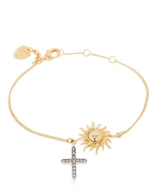 Schield - Metallic Sun & Cross Bracelet - Lyst