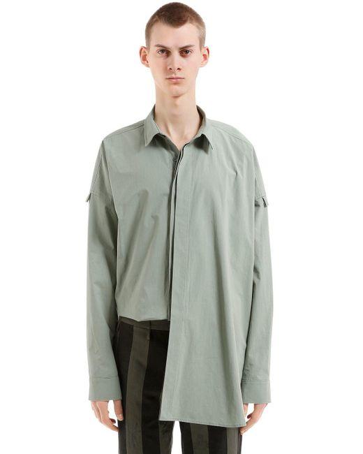 Damir Doma - Green Oversized Hemd Aus Baumwollpopeline for Men - Lyst