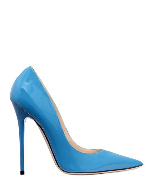 Jimmy Choo | Blue 120mm Anouk Patent Leather Pumps | Lyst