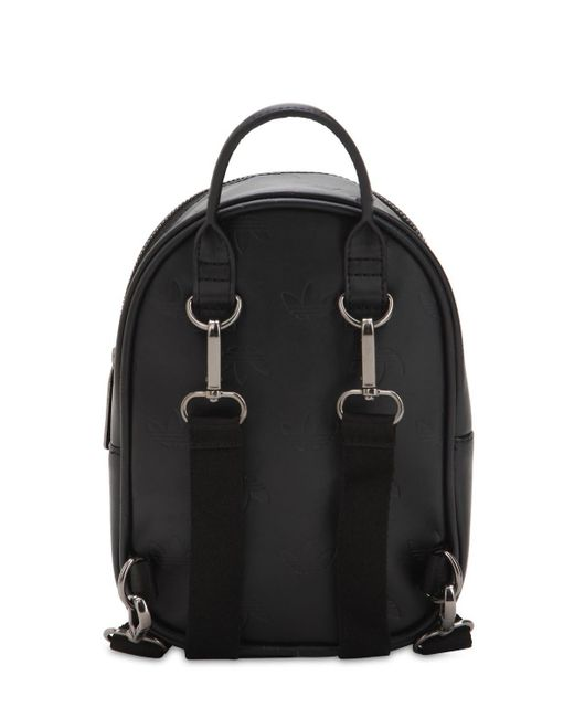 7b6ea02909a9 ... Adidas Originals - Black Mini Classic X Faux Leather Backpack - Lyst ...