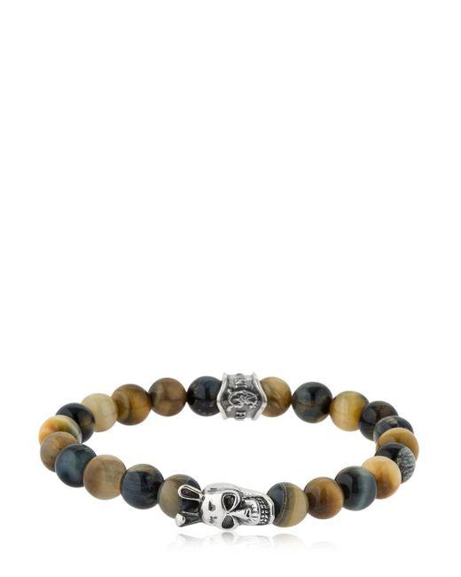 Cantini Mc Firenze - Multicolor Buddha Tiger's Eye Beaded Bracelet - Lyst