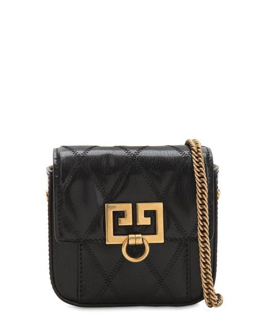 7e76654589f3 Givenchy - Black Quilted Leather Nano Pocket Clutch - Lyst ...