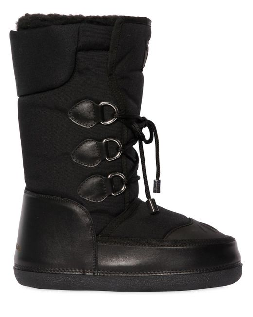 DSquared² | Black Nylon & Leather Snow Boots | Lyst