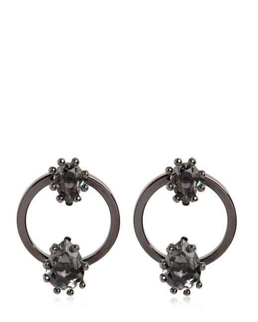 DSquared² | Black Jeweled Hoop Earrings | Lyst