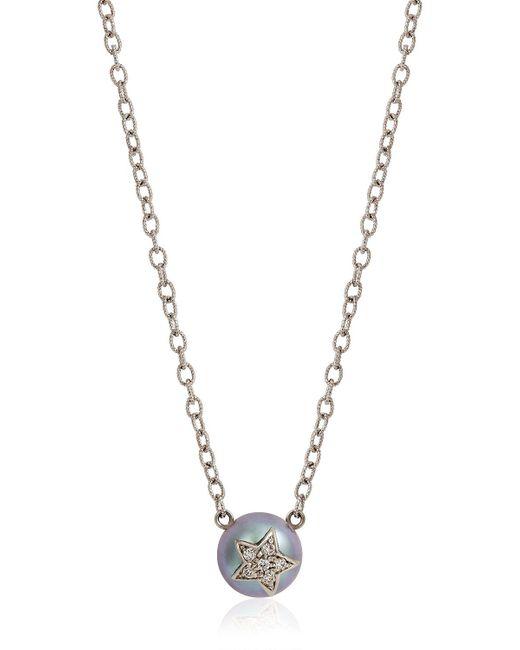 Carolina Bucci | Metallic Fresh Water Pearl & Diamond Necklace | Lyst