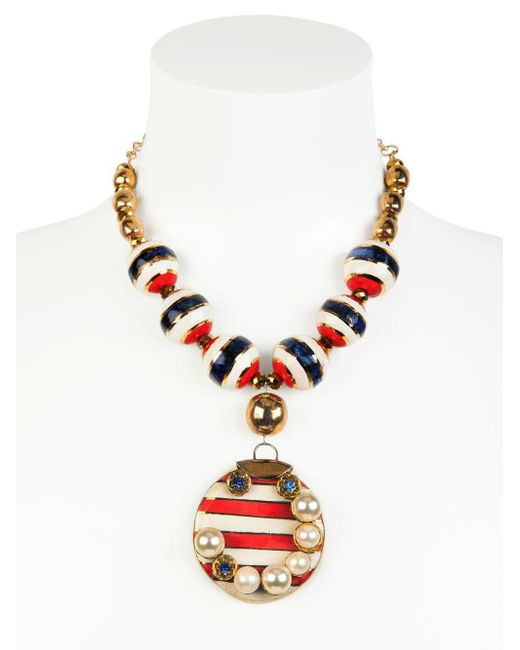 Sonia Boyajian | Red Gypsy Sunset Gold Plated Necklace | Lyst