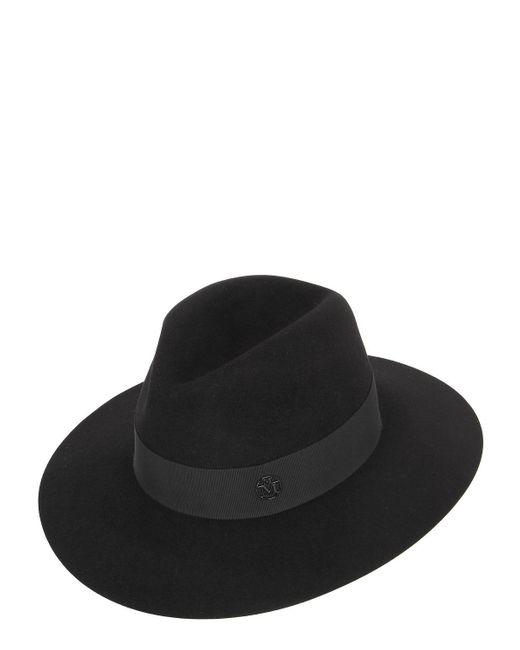 Maison Michel - Black Henrietta Rabbit Fur Felt Hat - Lyst