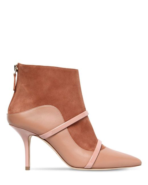Malone Souliers - Brown 70mm Madison Suede & Leather Ankle Boots - Lyst