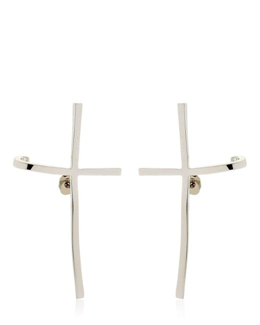 Schield - Metallic Cross Earrings - Lyst
