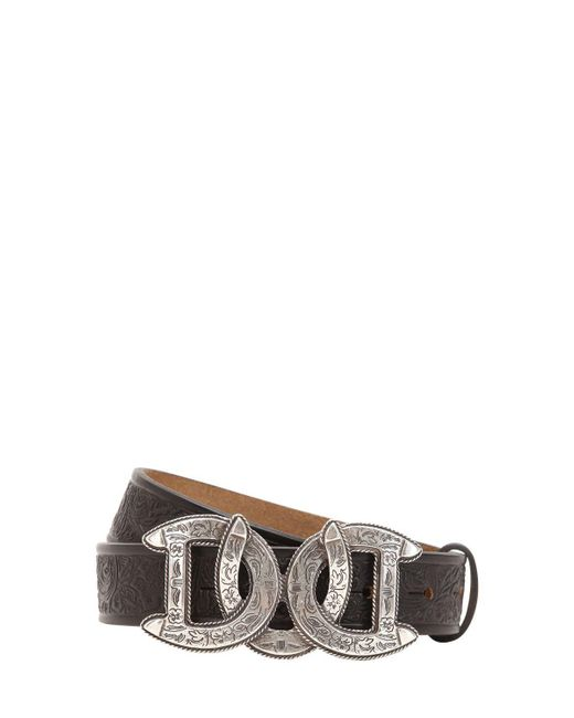 DSquared² - Black 30mm Dd Buckle Embossed Leather Belt - Lyst