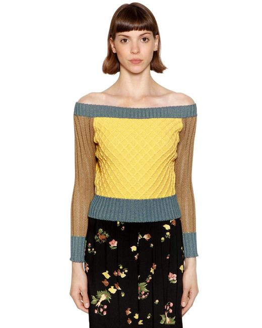 Antonio Marras - Multicolor Lurex & Cotton Blend Sweater - Lyst