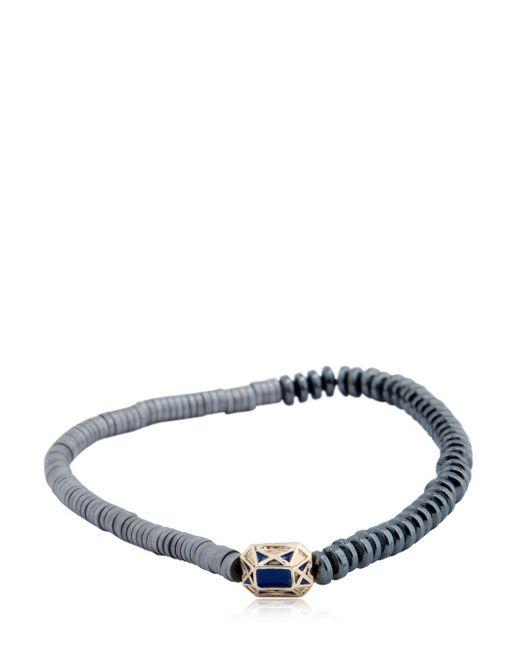 Luis Morais - Gray Gold Faceted Beaded Bracelet for Men - Lyst
