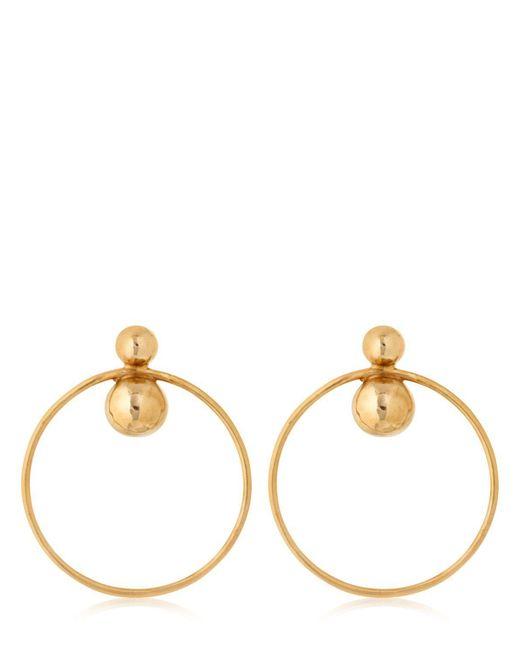 Laura Lombardi - Metallic Orbita Hoop Earrings - Lyst