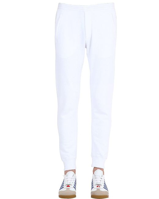 DSquared² | White Washed Cotton Jogging Pants for Men | Lyst