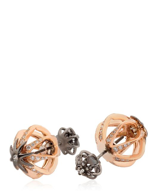 Colette - Metallic Galaxia Star Cage Reversible Earrings - Lyst