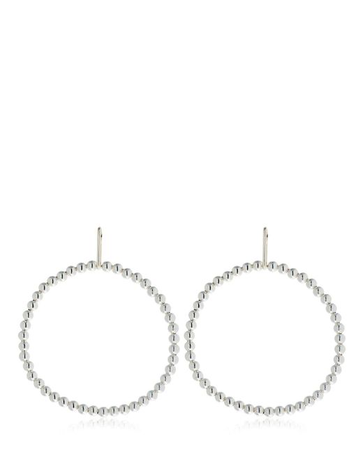 Saskia Diez - Metallic Liquid Hoop Earrings - Lyst
