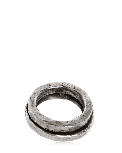 Emanuele Bicocchi | Metallic Double Silver Ring for Men | Lyst