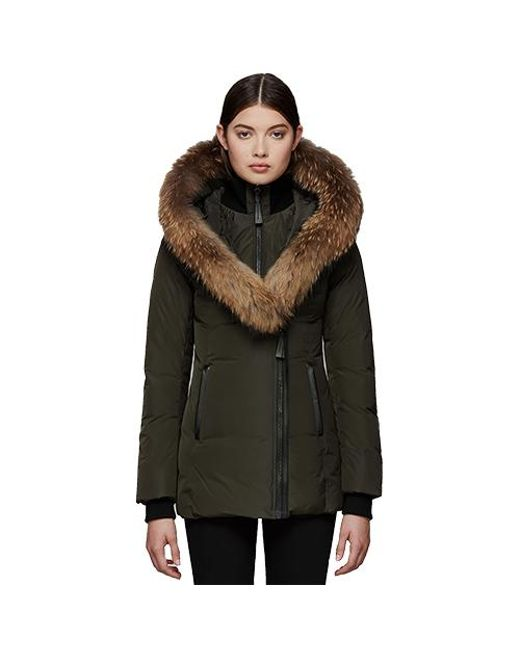 f6654cca27da Mackage - Green Adali Fitted Winter Down Coat With Hood And Fur Trim for  Men -