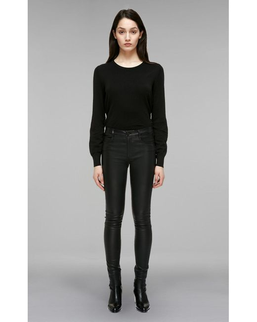Mackage - Black Peppa Fitted Stretch Leather Pants - Lyst